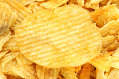 Texture of potato chips Stock Images