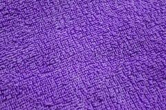 Texture pourprée d'essuie-main Photographie stock
