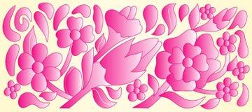 Texture pourprée de fleurs Illustration Stock