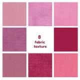 Texture pourpre et rose de tissu Photographie stock