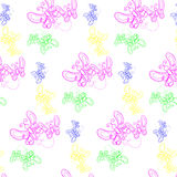 Texture with pretty flying butterflies on background. Royalty Free Stock Images