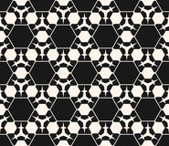 Texture with prickly figures, triangles, hexagons. Vector monochrome seamless pattern. Abstract dark geometric background. Delicate linear texture with prickly Stock Photos