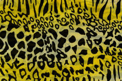 Texture of print fabric striped leopard for background. Used as raw material in publications and businesses stock photo
