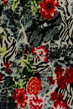 Texture of print fabric striped leopard and flower. For background royalty free stock photography