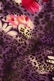 Texture of print fabric striped leopard and flower. For background royalty free stock photos