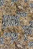 Texture of print fabric striped leopard and zebra Stock Photo