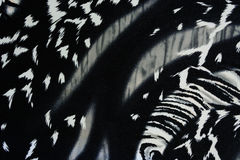 Texture of print fabric striped panther for background Royalty Free Stock Photography
