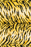 Texture of print fabric striped tiger. For background stock photo