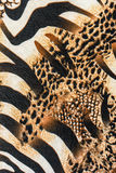 Texture of print fabric striped zebra and leopard Stock Images