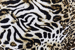 Texture of print fabric stripes leopard. For background royalty free stock photography