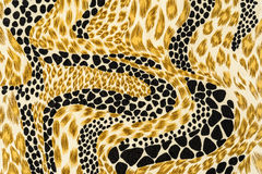 Texture of print fabric stripes leopard Royalty Free Stock Photo