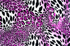 Texture of print fabric stripes leopard. For background royalty free stock photo