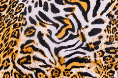 Texture of print fabric stripes leopard. For background royalty free stock photos