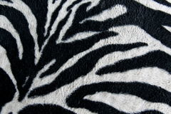 Texture of print fabric stripes zebra for background Royalty Free Stock Images