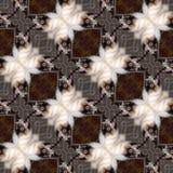 Texture produite sans couture de locations de chat kaléïdoscopique Photo stock
