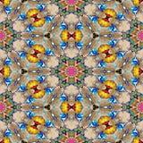 Texture produite sans couture kaléïdoscopique de locations de tache Images libres de droits
