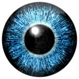 Texture profonde attrayante pointue d'oeil bleu Illustration Stock