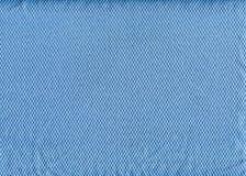 Texture propre bleue de tissu Photographie stock