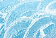 Texture propre de fond de savons de fenêtre Images stock