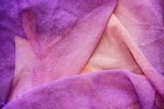 Texture of purple fabric with pleats Royalty Free Stock Image