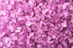 Texture of purple sea salt, closeup stock image