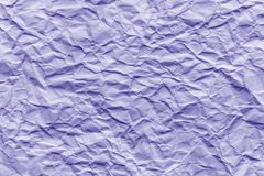 Texture of purple wrinkled paper. Closeup royalty free stock photos