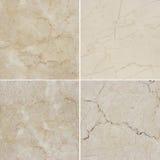 Texture quatre différente d'un marbre léger et foncé (Haute recherche ) Image libre de droits