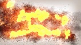 Texture réaliste de fond du feu 4K Image stock