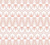 Texture répétitive avec les silhouettes d'isolement de carotte d'ensemble sur le fond blanc Photos libres de droits
