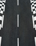 Texture of race asphalt and chess curb Grand Prix track Stock Photography