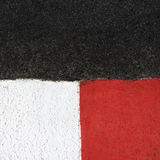 Texture of race asphalt and curb on Grand Prix circuit Royalty Free Stock Image