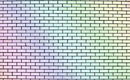 Texture of rainbow brick wall stock photo