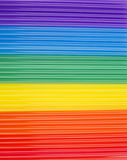 Texture of rainbow cocktail sticks. rainbow horizontal stripes. Royalty Free Stock Photography