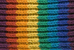 Texture of rainbow scarf Stock Images
