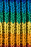Texture of rainbow scarf Royalty Free Stock Photography