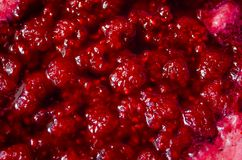 Texture raspberry jam Royalty Free Stock Image