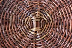 Texture of rattan basket background. Old bamboo weave texture ba. Ckground Royalty Free Stock Image