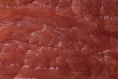 Texture of raw meat. The texture of raw red meat close-up Stock Images