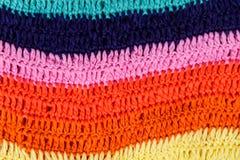 Texture rayée colorée multi à crochet de tissu Photographie stock