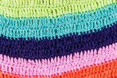 Texture rayée colorée multi à crochet de tissu Images stock