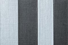 Texture rayée de couleur noir-argentée de tissu Photo libre de droits
