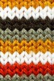 Texture rayée de laines Images stock