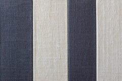 Texture rayée de textile de tissu rugueux Photographie stock