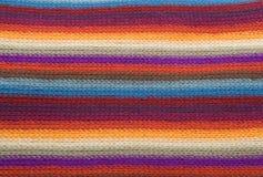 Texture rayée multicolore de laines Images stock