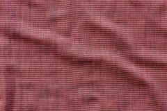 Texture rayée rouge et noire de coton Photographie stock