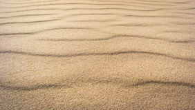 Texture of the real sand waves Royalty Free Stock Image