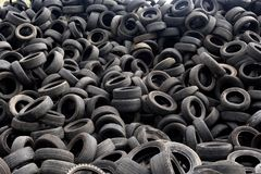 Texture of recycling tires. Close up of a recycling tires stock images