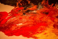 Texture of red acrylic paint, red background stock photos