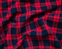 Texture of red black checkered fabric Stock Image