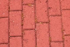 Red brick road royalty free stock images